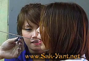 Sak Yant makes lady talk sweet to men