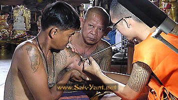 Magic tattoo Wat Bang Phra