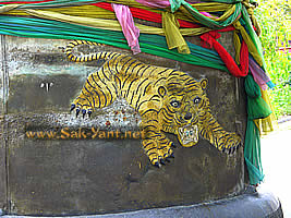 The symbol of the temple is a tiger